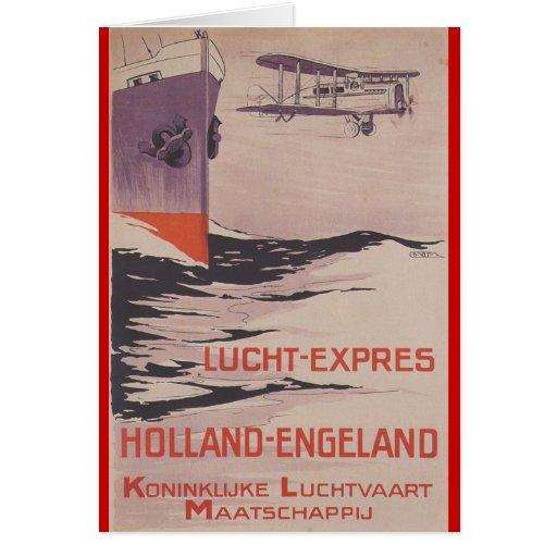 KLM Lucht-Expreso Tarjeta De Felicitación
