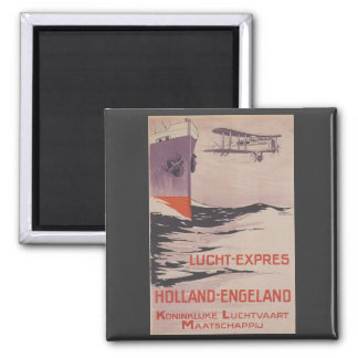 KLM Lucht-Express 2 Inch Square Magnet