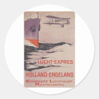 KLM Lucht-Express Classic Round Sticker