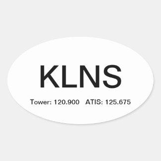 KLNS - Campo de aviación de Lancaster Calcomania De Oval