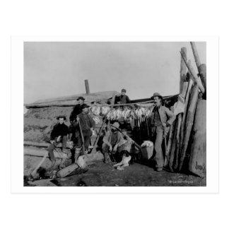 Klondike men after hunting ptarmigan in Nome Postcard