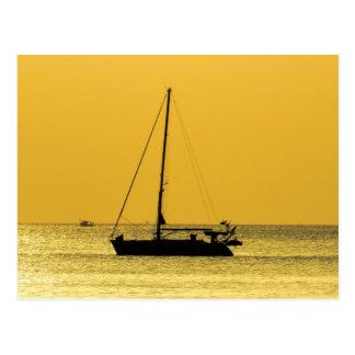 Klong Dao Beach Koh Lanta sunset Postcard