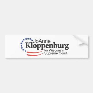 Kloppenburg para el Tribunal Supremo de Wisconsin Etiqueta De Parachoque