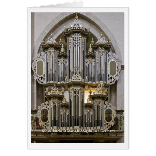 Klosterkirche St Maria organ card (vertical)