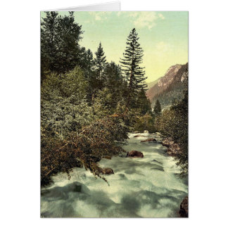 Klosters, gorges of the Landquart, Grisons, Switze Greeting Card