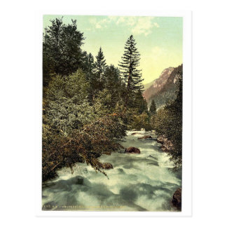 Klosters, gorges of the Landquart, Grisons, Switze Postcard