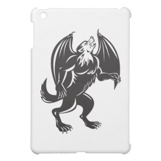 Kludde Black Wolf Dog With Bat Wings iPad Mini Cover
