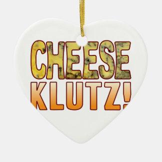 Klutz Blue Cheese Ceramic Ornament