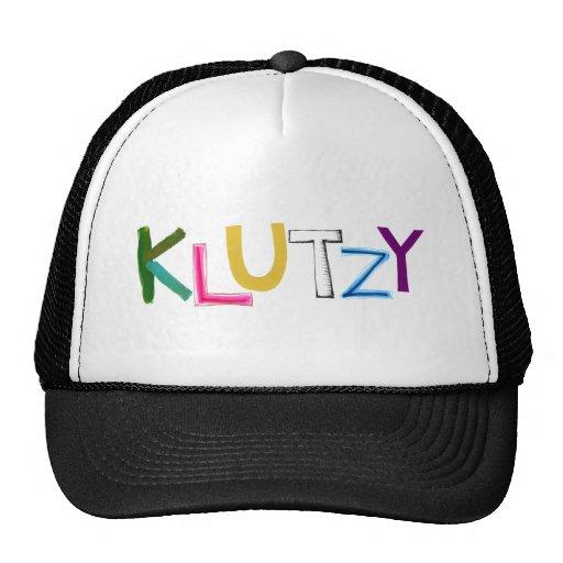 Klutzy clumsy uncoordinated oaf fun word art hat
