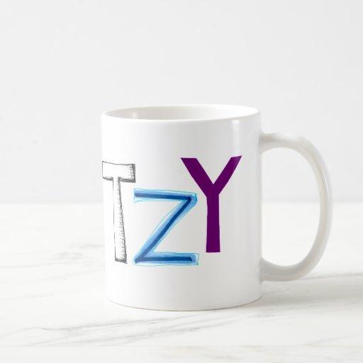 Klutzy clumsy uncoordinated oaf fun word art coffee mugs