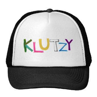 Klutzy clumsy uncoordinated oaf fun word art trucker hat