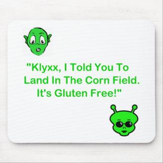 Klyxx, le dije aterrizar en el campo de maíz tapetes de ratones