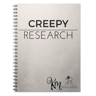 KM Golland Creepy Research Notebook