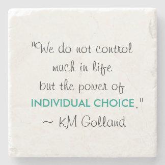 KM Golland 'Power of Individual Choice' Coaster