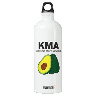 kma.(konsume more avocados) Avocado Aluminum Water Bottle