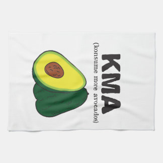 kma. (konsume more avocados) kitchen towel