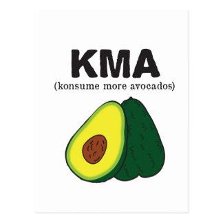 kma. (konsume more avocados) postcard