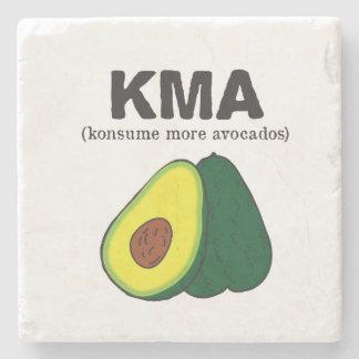 kma./(konsume more avocados) stone coaster