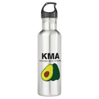 kma. (konsume more avocados) water bottle