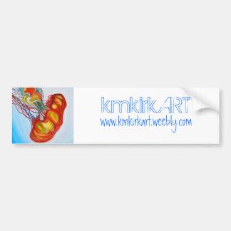 """kmkirkART """"Jellyfish I"""" bumper sticker"""