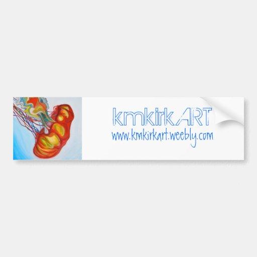 "kmkirkART ""Jellyfish I"" bumper sticker Car Bumper Sticker"