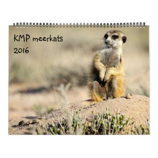 KMP Meerkats - calendario 2016