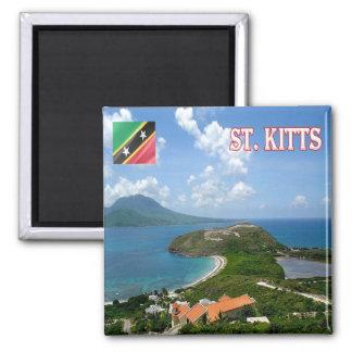 KN - Saint Kitts and Nevis - Saint Kitts View Magnet