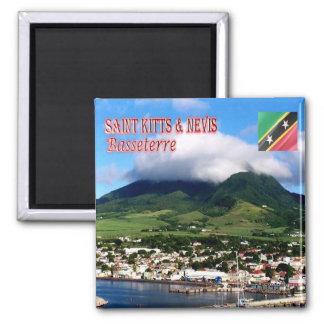 KN - Santo San Cristobal y Nevis - fichero Imán Cuadrado