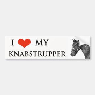 Knabstrupper horse bumper sticker