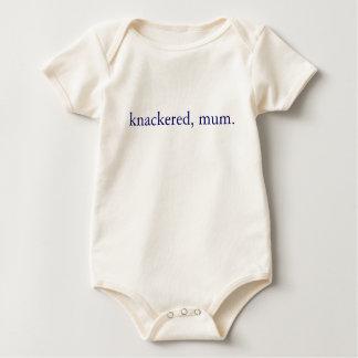 Knackered, mum - British slang Baby Bodysuit