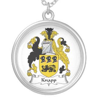 Knapp Family Crest Round Pendant Necklace