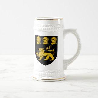 knapp knappe coat of arms beer stein