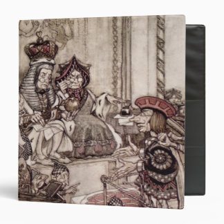 Knave before the King and Queen of Hearts 3 Ring Binder