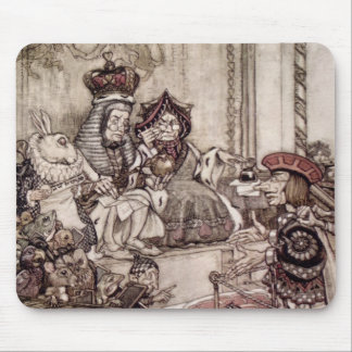 Knave before the King and Queen of Hearts Mouse Pad