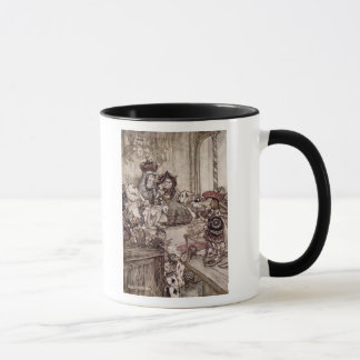 Knave before the King and Queen of Hearts Mug