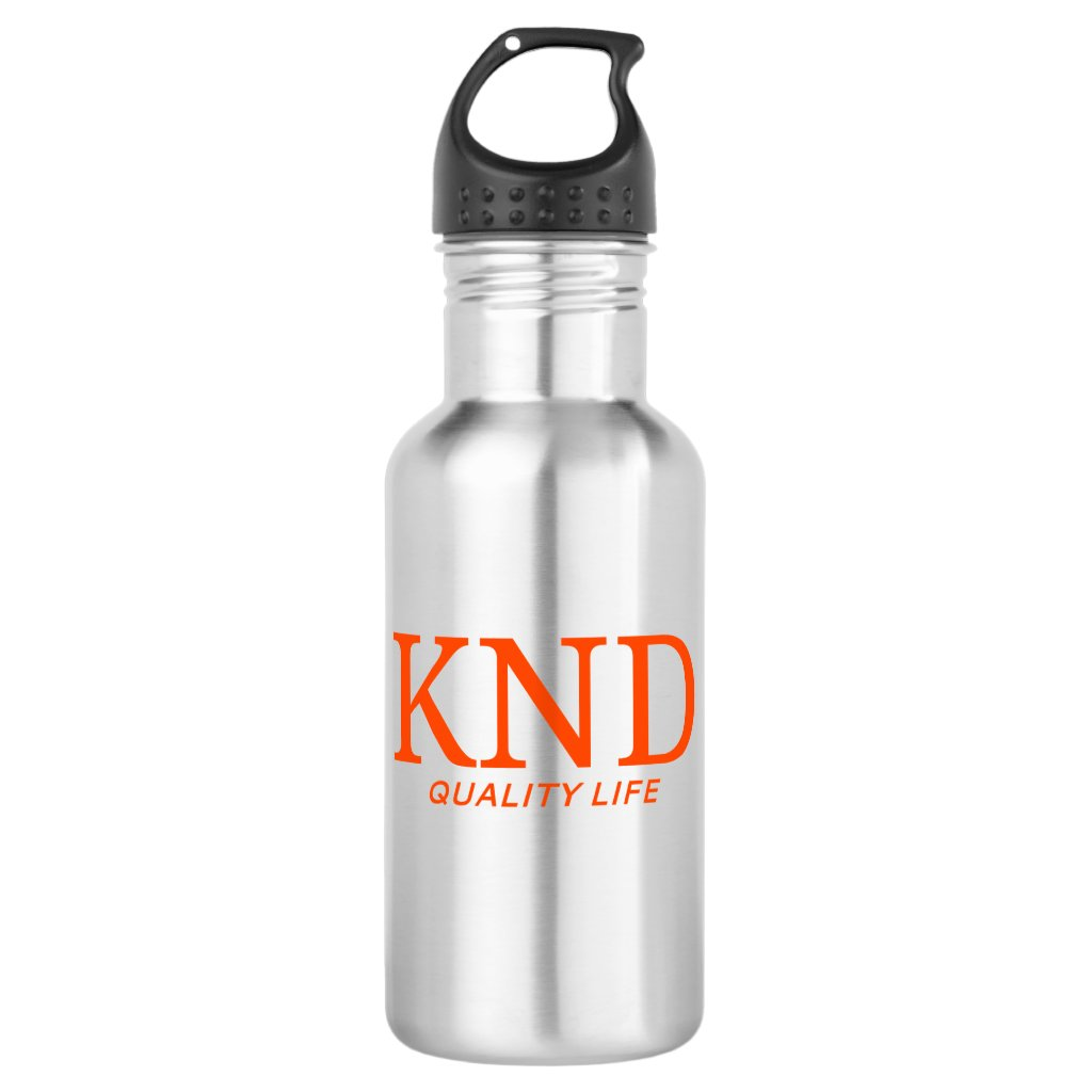 KND Quality Life Stainless Water Bottle  (18 oz.)