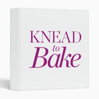 Knead To Bake Binder