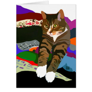 """KNEADING TO FOLD LAUNDRY"" cat Cards"