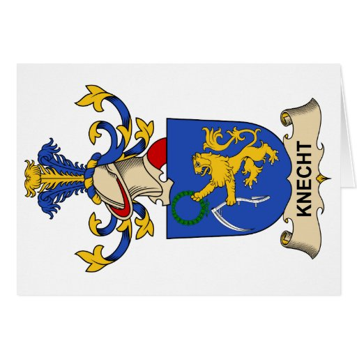Knecht Family Crest Greeting Card
