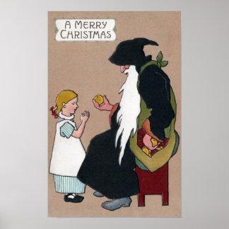 Knecht Ruprecht Vintage German Christmas Folklore Poster
