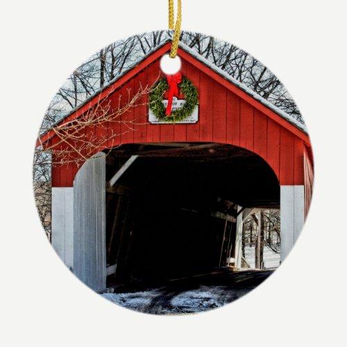 Knecht's covered bridge ornament