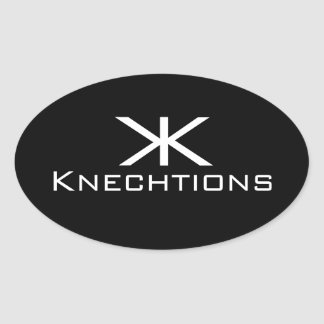 Knechtions se pegó pegatina ovalada