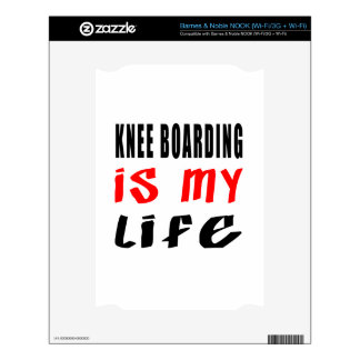 Knee Boarding is my life Decal For NOOK