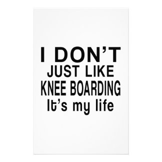 KNEE BOARDING IS MY LIFE STATIONERY
