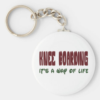 Knee Boarding It's a way of life Key Chain