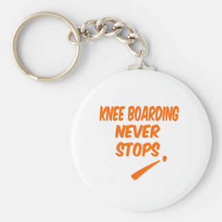 Knee Boarding Never Stops Key Chains