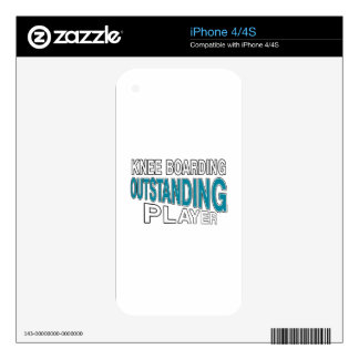KNEE BOARDING. OUTSTANDING PLAYER iPhone 4 DECALS