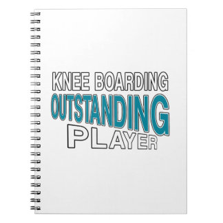 KNEE BOARDING. OUTSTANDING PLAYER NOTEBOOK