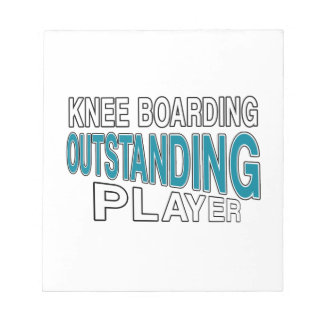 KNEE BOARDING. OUTSTANDING PLAYER NOTEPAD