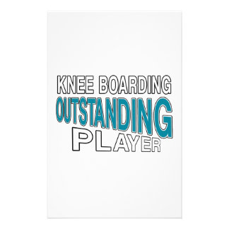 KNEE BOARDING. OUTSTANDING PLAYER STATIONERY